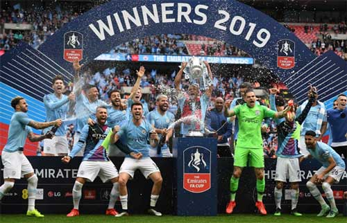 Man City 6-0 Watford: City thrash Hornets in FA Cup final to claim domestic treble