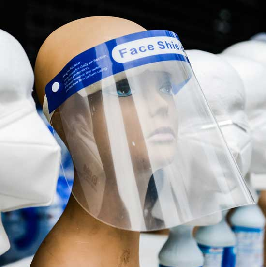 Don't wear face shields without face masks - Ghana Health Service