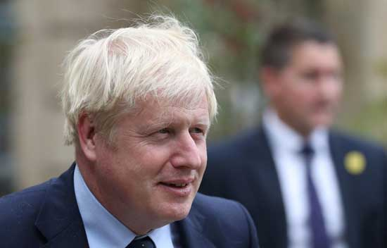 File image - British Prime Minister Boris Johnson leaves after a meeting with Luxembourg's Prime Minister Xavier Bettel in Luxembourg, September 16, 2019.