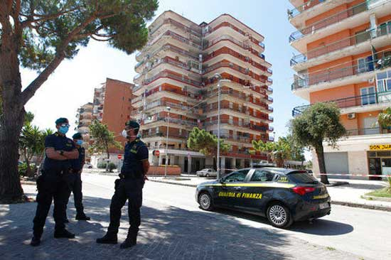 Tensions rise at virus hot spot apartments in southern Italy