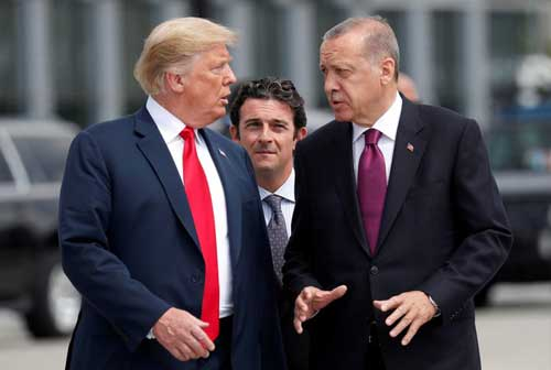 File image - US PFile image - US President Donald Trump (L) and president of Turkey Recep Tayyip Erdoğan (R).esident Donald Trump (L)  and president of Turkey Recep Tayyip Erdoğan