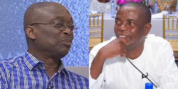 Kweku Baako (left) with Kwesi Pratt. Image credit - Yen News