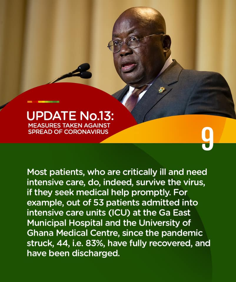 Full Text: Address To The Nation By The President Of The Republic, Nana Addo Dankwa Akufo-Addo, On Updates To Ghana's Enhanced Response To The Coronavirus Pandemic (Update No. 13)