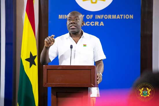 Minister of Information, Mr Kojo Oppong Nkrumah