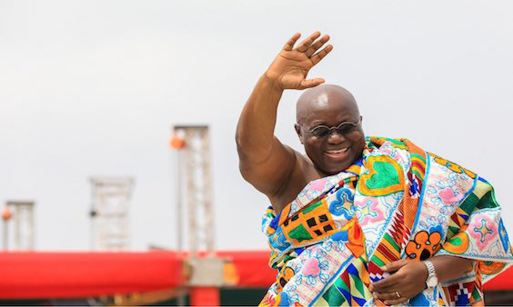 File: President-elect, Nana Akufo-Addo waves to the crowd at his inauguration
