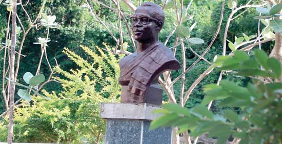 A bust of Professor Kofi Abrefa Busia can be found at the Mausoleum of the late former Prime Minister