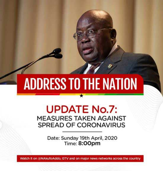 COVID-19: President Akufo-Addo lifts partial lockdown effective Monday