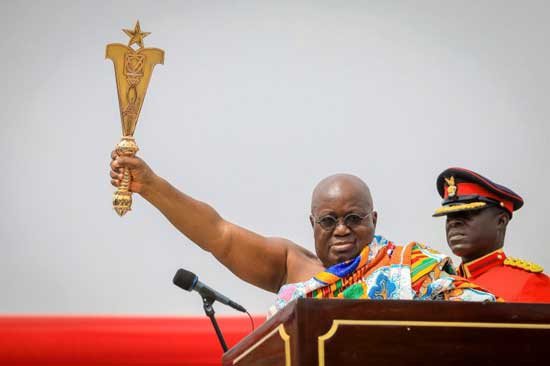 President Nana Akufo-Addo during his swearing-in ceremony at Independence Square in Accra, Ghana on 7 January 2017. File image